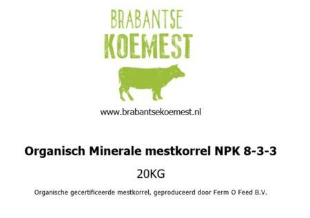 Organische minerale mestkorrel
